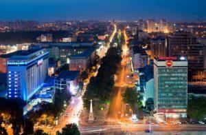 Вечерний Краснодар (фото с высоты)