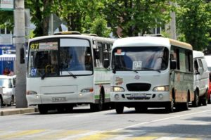 Гонки на маршрутках в Краснодаре