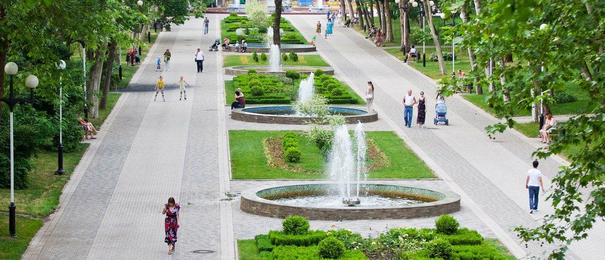 Городской сад (парк Горького) в Краснодаре